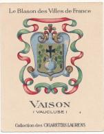 Cigarettes Laurens - Blason Des Villes De France - Vaison  (84) - Cigarette Cards
