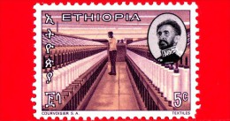 Nuovo - ETIOPIA - 1965 - Imperatore Haile Selassie E  Laboratorio Tessile - Textiles - 5 - Etiopia