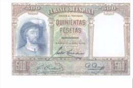 SPAIN 1931 - REPLICA - REPRODUCTION -JUAN SEBASTIAN ELCANO - DESEMBALCO EN SEVILLA (Painted By E.Salavarria)- PAPER BILL - [ 8] Falsi & Saggi