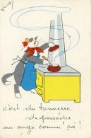Chats Fantaisie C'est Du Tonnerre De Posséder Un Ange Comm'ça  Illustrateur Josy  Cpsm Format Cpa - Katten