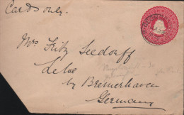BRITISH GUYANA - COVER 2 CENTS 1896 GEORGETOWN -> LEHE/GERMANY - British Guiana (...-1966)