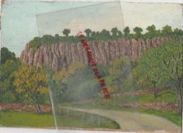 19 - BORT LES ORGUES - JOLI TABLEAU HUILE NON SIGNE SUR CARTON FORT ISSU D´ UN LOT ANN2ES 1940 - Oils