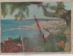 06- MENTON - JOLI TABLEAU HUILE NON SIGNE SUR CARTON FORT ISSU D´ UN LOT ANNEES 1940 - Huiles