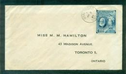 N°225 Graham Bell Oblitéré Du 1er Jour 3 Mr 1947 Bratford Pour Ontario - Cartas