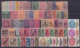 Duitsland - DEUTSCHES REICH - 1903 Tot 1934 - GROOT LOT DIENSTZEGELS - ° - Dienstpost