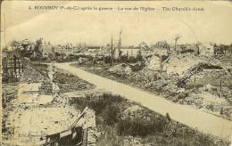 """CP De ROUVROY """" Après La Guerre , La Rue De L'église """" - Harnes"""