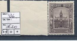 BELGIUM BELGIQUE 1936 COB 436 MNH POSTFRIS SANS CHARNIERE - Belgique