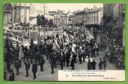 Bruxelles. 75 è Anniversaire De L'Indépendance Belge. Cortège Des Drapeaux. Sociétés De Gymnastique. 1905 - Fêtes, événements
