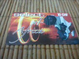 Prepaidcard Zwitzerland Select 4 Africa Used
