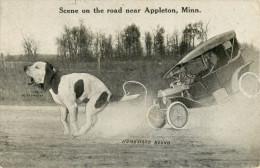 PHOTO MONTAGE - SURREALISME - SCENE ON THE ROAD NEAR APPLETON MINN - HOMEWARD BOUND           PHOTOMONTAGE SURREALIM - Photographs