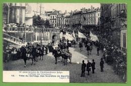 Bruxelles. 75 è Anniversaire De L´Indépendance Belge. Cortège Des Drapeaux. Sociétés De Sports. 1905 - Fêtes, événements