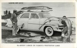 PHOTO MONTAGE - SURREALISME - LOADING OUR CATCH - MC KEEBY LODGE ON FAMOUS WHITEFISH LAKE        PHOTOMONTAGE SURREALIM - Photographs