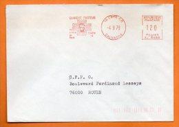 14 CAEN  CLINIQUE PASTEUR   1979 Lettre Entière EMA N° 1412 - Marcofilia (sobres)