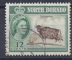 BORNEO Du NORD -  Yvert  N° 320 - Oblitéré - Taureau - Bornéo Du Nord (...-1963)