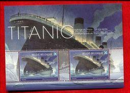314261484 BELGIE 2012 *** MINT NEVER HINGED Ocb  Bl200 Bl 200 Titanic - Blokken 1962-....