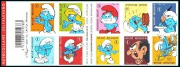 Belgium**SMURFS-Film-CARTOONS-Booklet 10stamps-2008-MNH-SCHTROUMPFS-PITUFOS-Animation-Carnet - Belgium