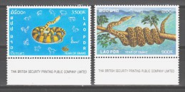 Laos 2001 Mi 1769-1770 Chinese New Year: Year Of The Snake / Chinesisches Neujahr: Jahr Der Schlange **/MNH - Serpents