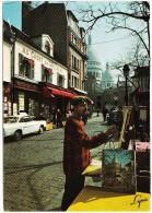 Paris:  RENAULT FLORIDE/CARAVELLE - Vieux Montmartre, Sacreé-Coeur, ´Au Cadet De Gascogne´  - (France) - Turismo