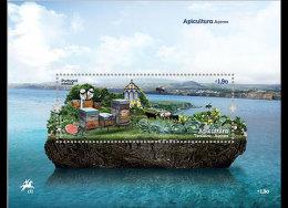 Azores 2013 - Apiculture Souvenir Sheet  Mnh - Honeybees