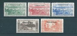 Timbres Taxes De Nouvelles Hébrides De 1953 N°26 A 30 Neufs ** - Postage Due