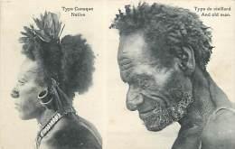 Dept Div -ref U578- Type Canaque - Native - Type De Vieillard -an Old Man - Papouasie - Nouvelle Guinee -carte Bon Etat- - Papua Nuova Guinea
