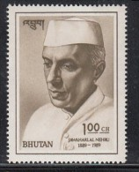 BHUTAN 1989,   Centenary Birth Jawaharlal Nehru,  India Prime Minister,  (1889-1964), I Value Complete. MNH(**). - Altri