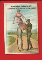 INIMITABLE CAMBRAI DUROYON RAMETTE CHROMO VELO CYCLISME BICYCLETTE DRAISIENNE FEMME - Chocolat