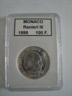 Monaco-100 Francs 1999 - Rainier III - 50ème Anniversaire De Règne - Argent - Non Circulé - Monaco