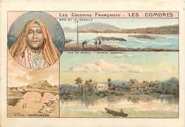Dept Div -ref U567- Chromo Dimensions :10,5cms X 7 Cms - Les Comores -baie De La Gazelle -vue De Ichoui  - - Comoros