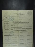 Permission de colporteur de livres,...� Jean Dosseray n� � Vaux-sur-Ch�vremont Paris 1878 (plusieurs d�partements)