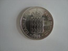 Monaco-10 Francs 1966 - Rainier III Prince De Monaco - Verso Charles III 1856-1889 - TBE - Argent - Monaco
