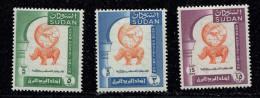 Soudan** - N° 119 à 121 - Union Postale Arabe - Hippopotame - Soudan (1954-...)