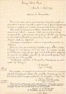 55Nj 1  Courrier Manuscrit President Touring Club De France De Paris à Digne Et St André (04) En 1909 - Manuscripts