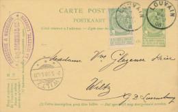 501/23 - BRASSERIE BELGIQUE - Entier Postal Cachet Brasserie De La Vignette 1908 Vers WILTZ Luxembourg - Bières