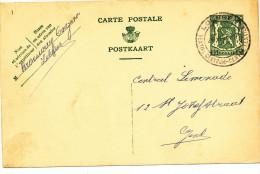 502/23 - BRASSERIE BELGIQUE - Entier Postal LOKEREN 1938 - Expéditeur Brouwerij Ongena - Bières