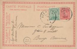 503/23 - BRASSERIE BELGIQUE - Entier Postal BEERNEM 1921 - Expéditeur Brasseur Van Houtrijve - Bières