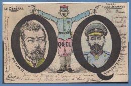 POLITIQUE Satiriques -- Guerre Russo - Japonaise
