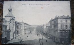 France, Nimes, Boulevard Victor Hugo Et Le Lycée - Nîmes