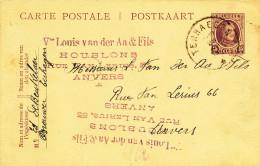 506/23 - BRASSERIE BELGIQUE - Entier Postal TERHAEGEN 1922 - Expéditeur Brasseur De Beukelaer - Bières