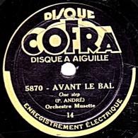 78 Trs - 22 Cm - état TB - Orch. Musette - AVANT LE BAL - GOGUENARDE - 78 Rpm - Schellackplatten