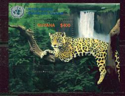 (cl 15 - P4) Guyane ** Bloc N° 438 (ref. Michel Au Dos) - Elephant,  Jaguar - - Guyane (1966-...)