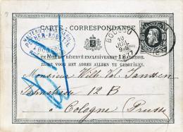 508/23 - BRASSERIE BELGIQUE - Entier Postal BOUSSU 1877 - Cachet Malterie-Brasserie Pecher-Robette - Bières