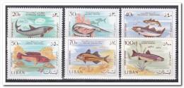 Libanon 1968, Postfris MNH, Animals, Fishes - Libanon
