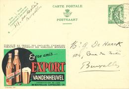510/23 - BRASSERIE BELGIQUE - Entier Postal Publibel 1937 - Bière Export VANDENHEUVEL - Biere