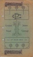 Challans. Carnet De Mariage De Constant Pinaud. Allocution Prononcée L'Abbé F. Pascaud En 1911 à Saint André De Ni - Challans