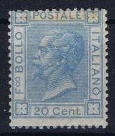 Italia: 1867 Sa 26 , Mi Nr 26 B Light Blue - Nuovi