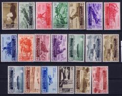 Italia: 1934 Sa 366 - 376 + A74 -A82  Mi 494 - 513 MNH/** - 1900-44 Vittorio Emanuele III