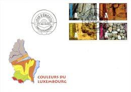 LUXEMBOURG. N°1637-40 De 2005 Sur Enveloppe 1er Jour. Géologie. - Non Classés