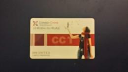 Congo-telecom S.a.r.l Le Reseau Du Peuple-500  Units Carte Prepayee-used Card+2prepiad Free - Congo