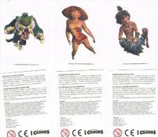 I CROODS - LOTTO DI 3 DIFFERENTI ADESIVI PER TATUAGGI - - Stickers